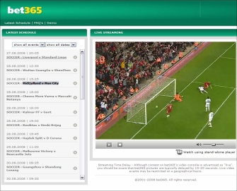 Watch free live football streams at bet365.com